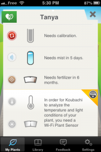 screenshot koubachi app review