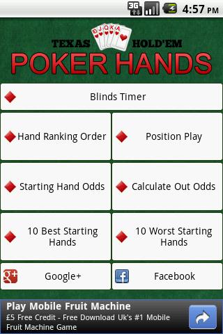 Learn poker odds