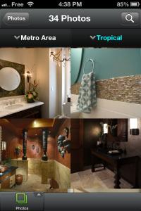 screenshot Houzz app review