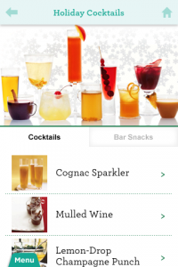 screenshot Martha Stewart Makes Cocktails app review