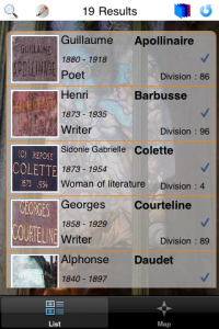 screenshot iPèreLachaise app review