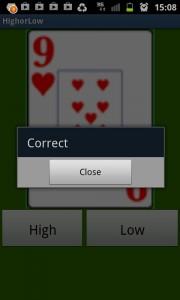 screenshot highorlow (drinking game) app review