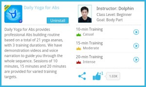 screenshot daily yoga app review