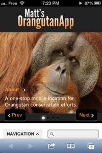 screenshot Matt's Orangutan App app review