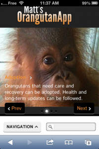 screenshot Matt's Orangutan App app review