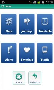 screenshot RATP app review