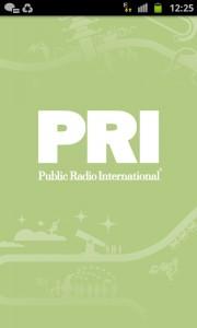 Screencap PRI Public Radio International app review