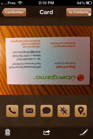 screenshot abbyy cardholder app review - Card Holder App