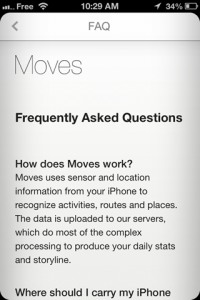 screenshot Moves app review
