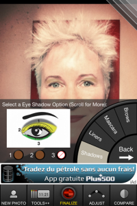 screenshot Virtual Makeover app review