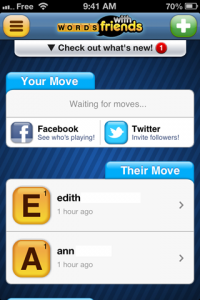 screenshot Words with Friends app review