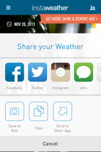 app review Instaweather app